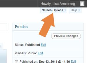 Displaying Screen Options for WordPress